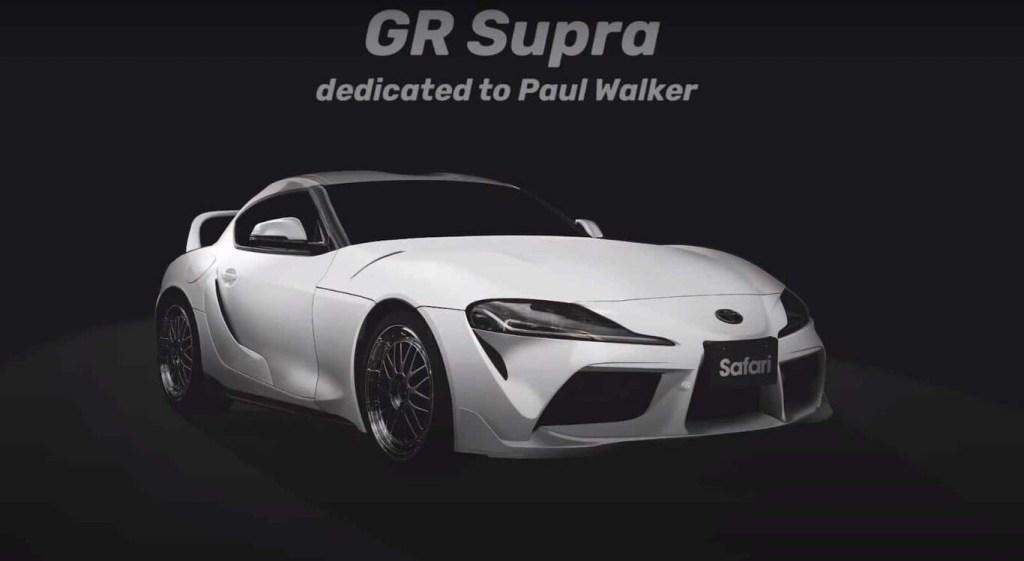 Tom's Racing le hace un homenaje al rey de la velocidad Paul Walker con este Toyota Supra