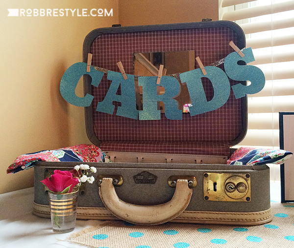 DIY Graduation Party - Repurposed Suitcase for Cards