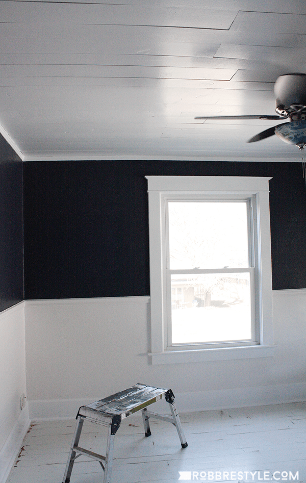 Diy Shiplap Bedroom Ceiling Robb Restyle