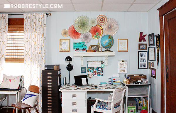 DIY Home Office and Craft Space by RobbRestyle.com