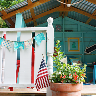 A Backyard Playhouse Makeover