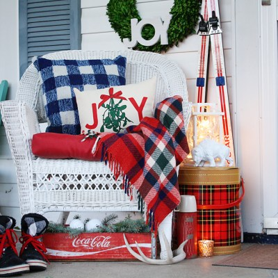 Front Porch Tour: Vintage Christmas Cabin