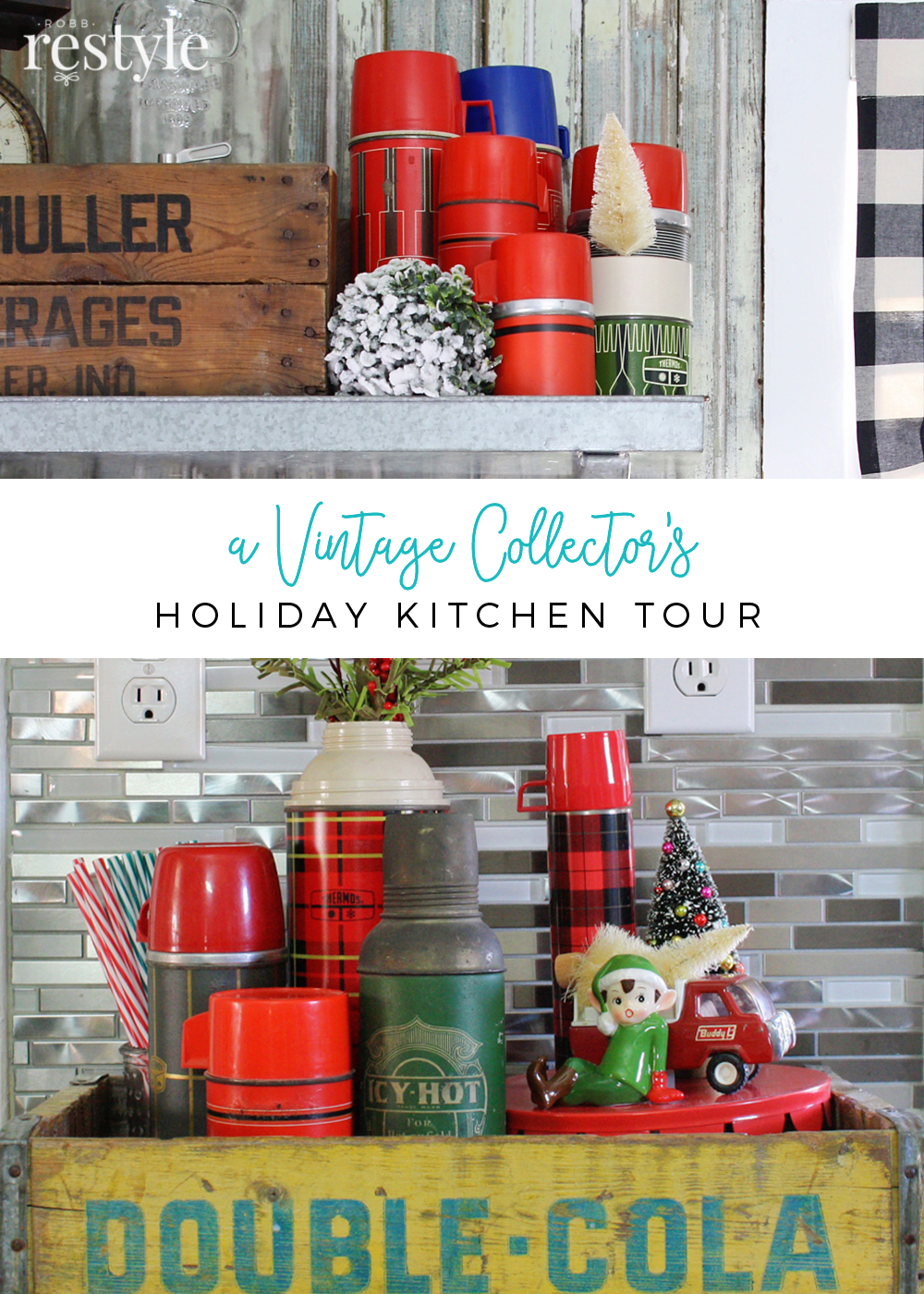 Vintage Collector's Holiday Kitchen Home Tour