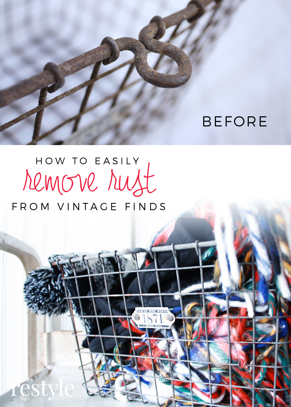 How to easily remove rust from your vintage finds.