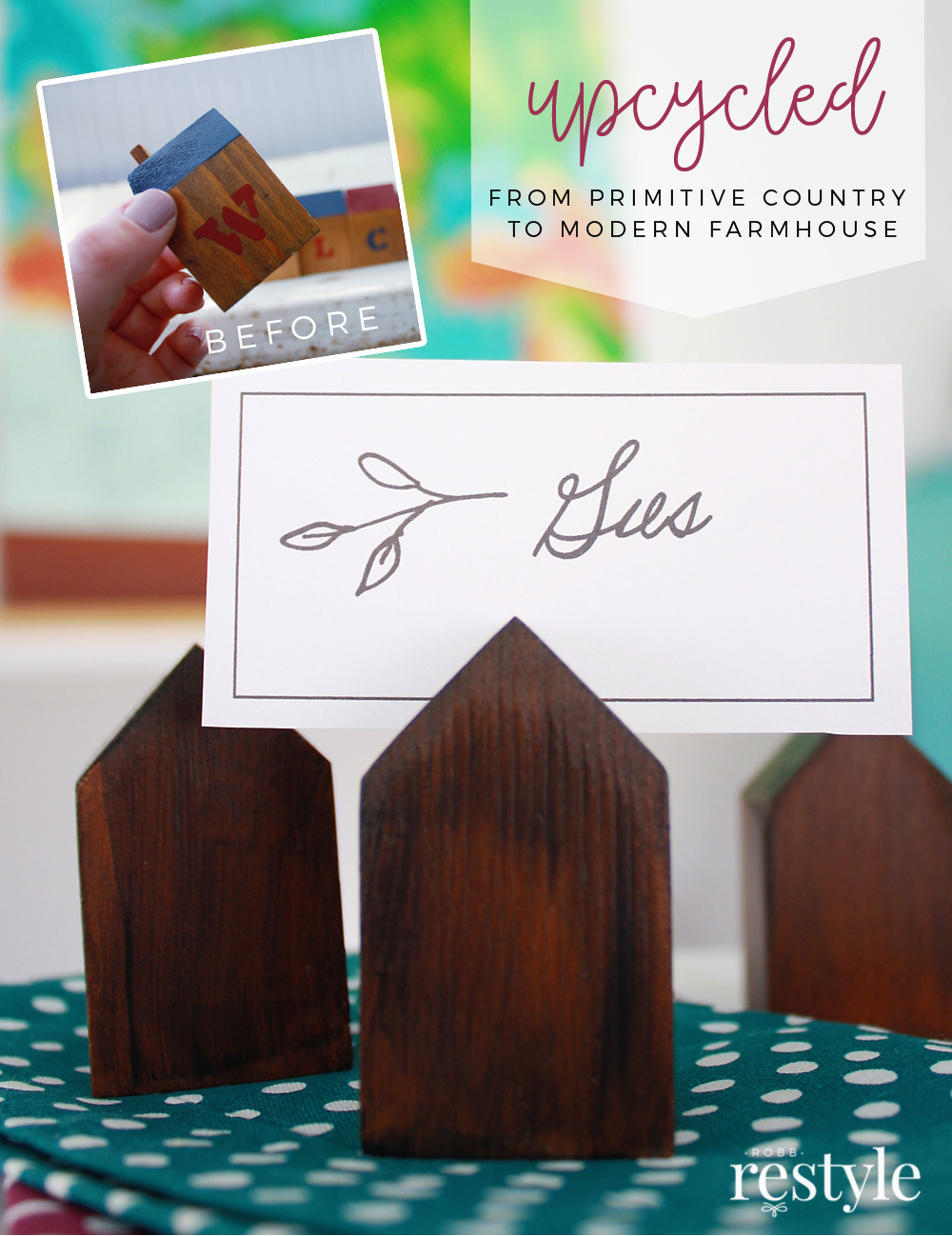 Upcycle Decor Idea - House Place Card Holder