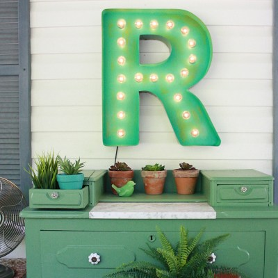 DIY Marquee Letter Porch Decor