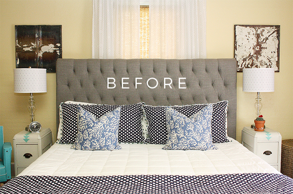 Transforming this tired bedroom into a boho chic oasis