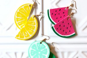 DIY Summer Style Fruit Slice Earrings