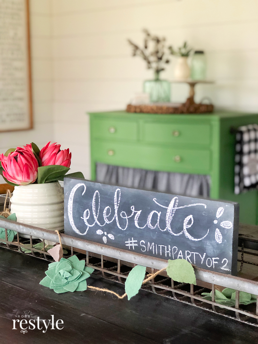 Celebrate Chalkboard Sign Idea