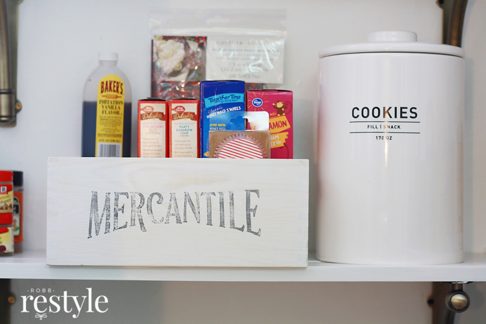 Organize your pantry with farmhouse storage.