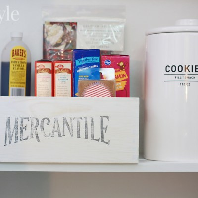 Easy Pantry Organization with Farmhouse Style Storage