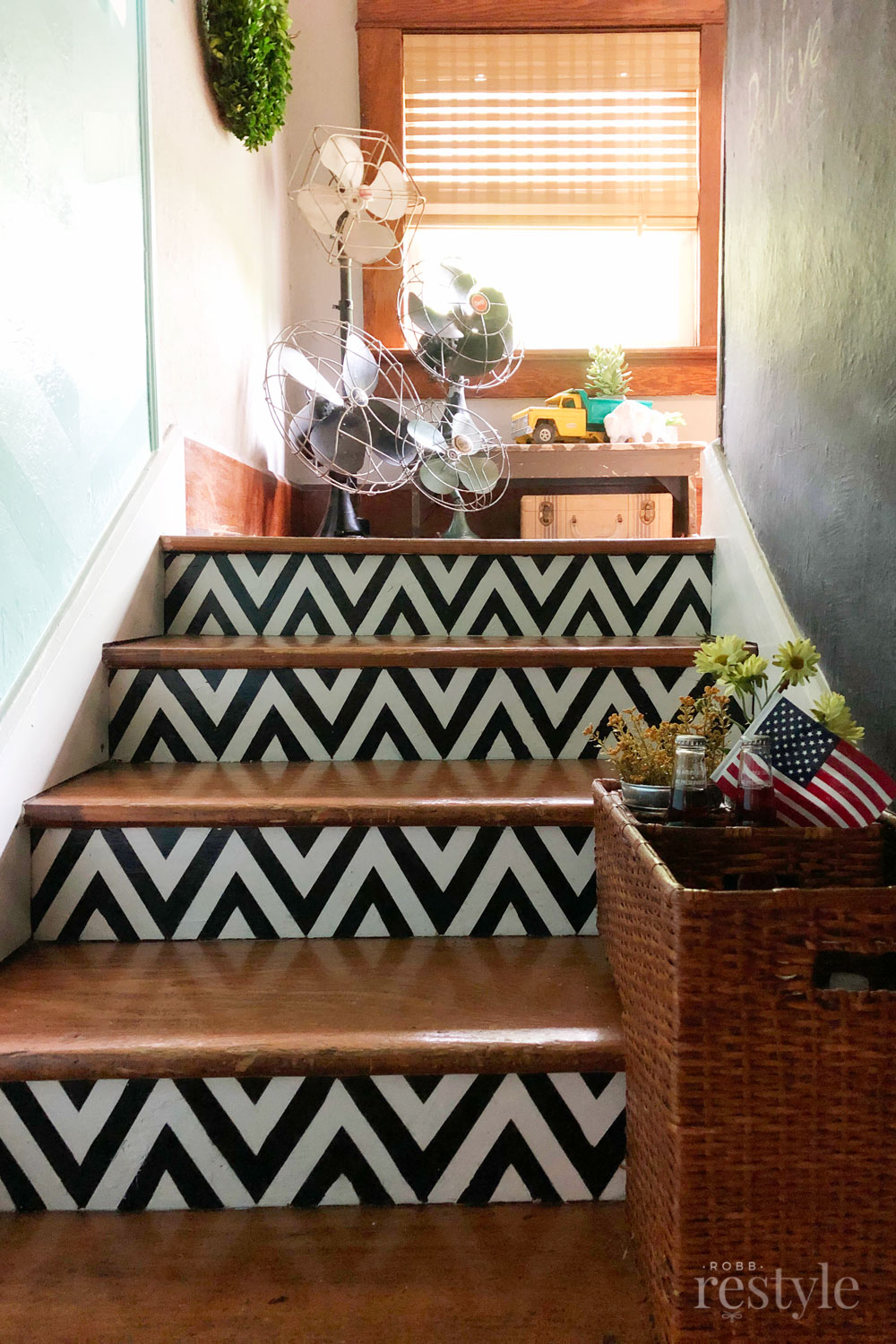 Painted Stairs Kickplate