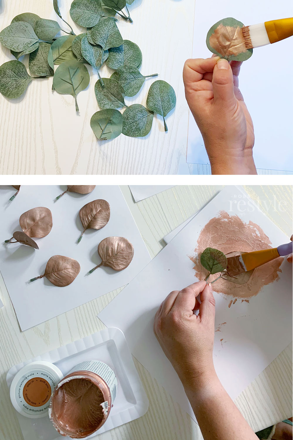how to paint with matte metallic