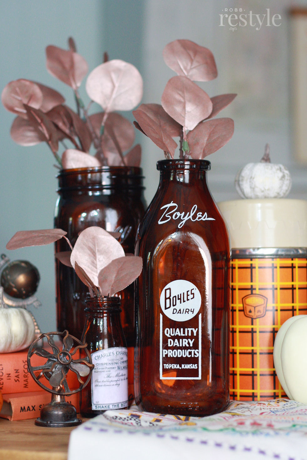 How to paint faux stems fall decor