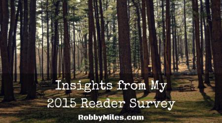 Insights from my 2015 Reader Survey