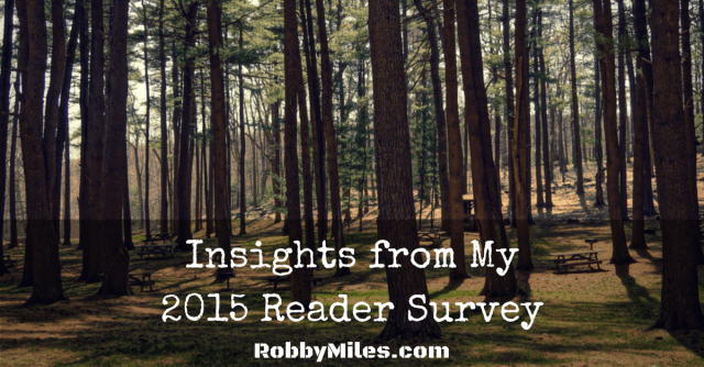 Insights from my 2015 Reader Survey