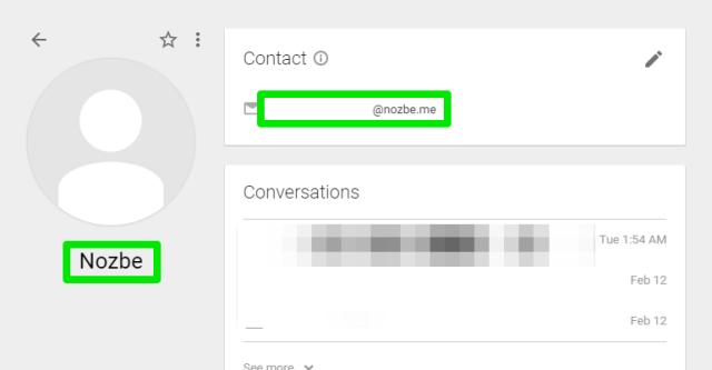 Nozbe Contact