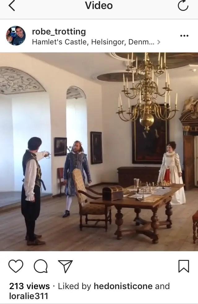 Shakespeare's Hamlet performed at Kronborg Castle in Helsingør Denmark