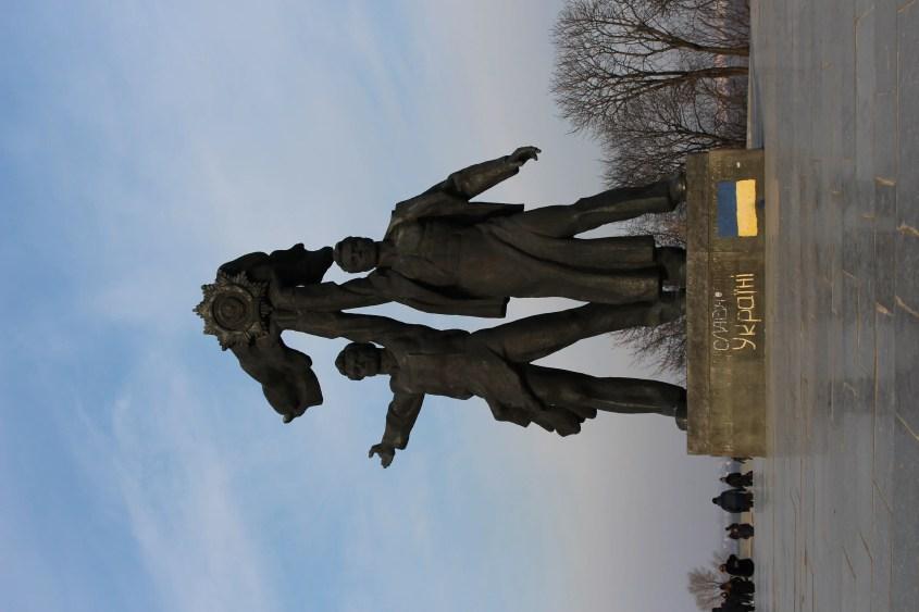 Soviet era statue Kyiv Ukraine Kiev no excuse not to travel