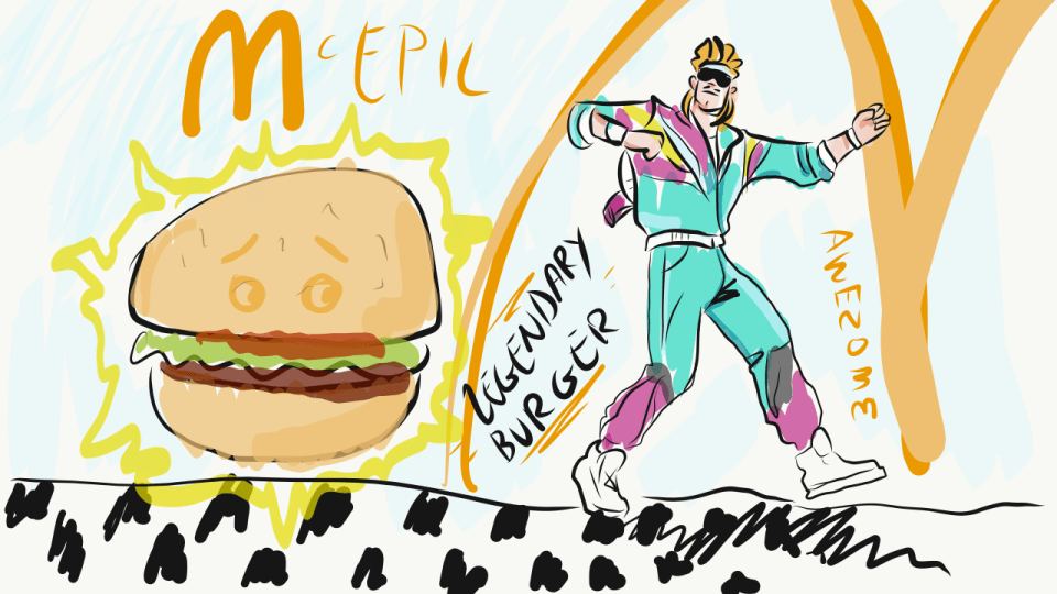 I Tried To Order A Fortnite Burger At Mcdonald S This Is My Story Robek World One of the rifts swallowed up the durr burger sign, a wonderful anthropomorphic burger with a large, wagging tongue. i tried to order a fortnite burger at