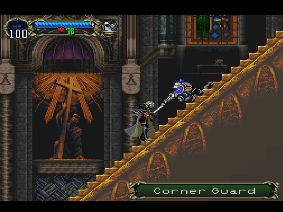 corner guard stairs castlevania