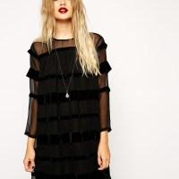Robe transparente noire