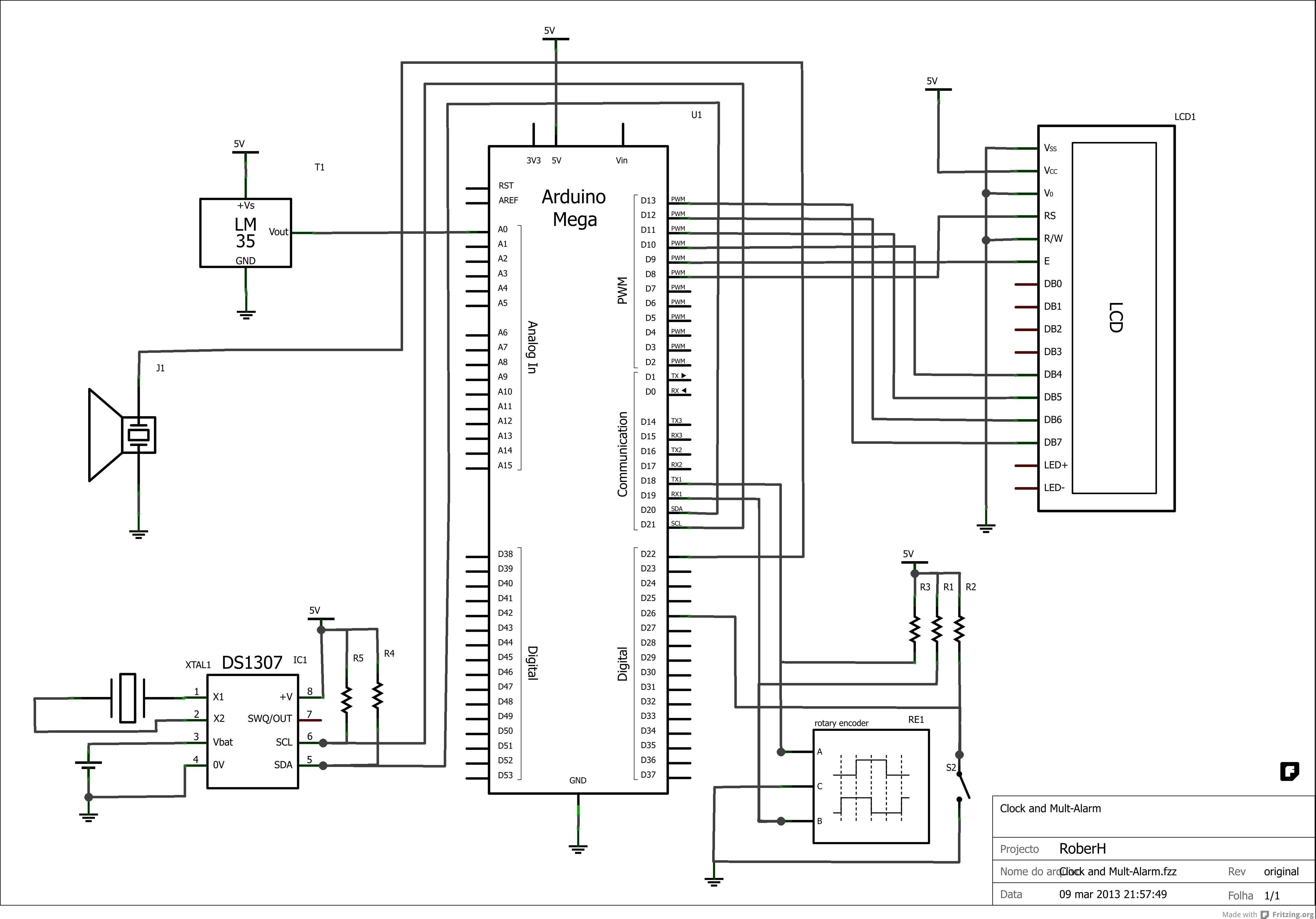Schematic Mechanical Alarm Clock