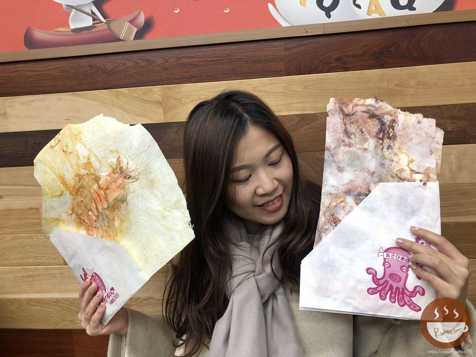 朝日堂仙貝|鎌倉必吃必買,超大章魚仙貝和虎蝦螃蟹仙貝,整隻新鮮大章魚跟虎蝦現壓! 20