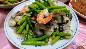 蘆筍炒三鮮
