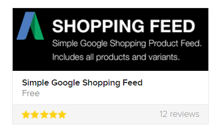 Google Simple Feed Shopify App RobertBotto.com
