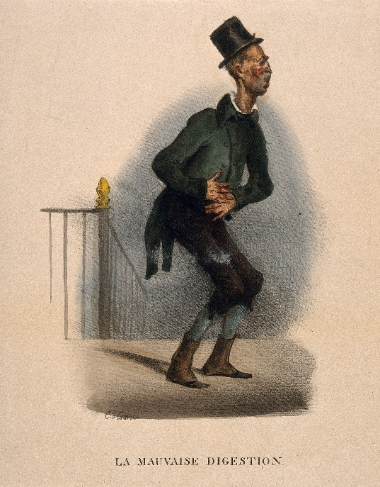 https://upload.wikimedia.org/wikipedia/commons/0/04/A_poor_man_suffering_from_indigestion._Coloured_lithograph_b_Wellcome_V0011754.jpg