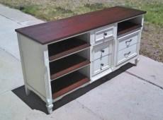 dresser turned entertainment center