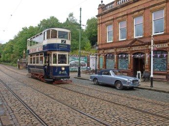 Trams old (a Leeds tram at the Tramway Museum, Crich)