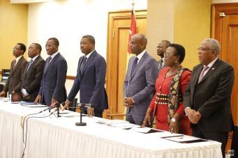 Délégation togolaise face aux membres de la diaspora togolaise