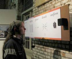 Robert Egert and Lisa Karrer, Prussian Blue, a site-specific installation at the Garnerville Industrial Center, 2010