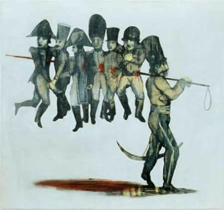 "Napoleonica, oil on canvas, approx. 30"" x 28"", circa 1989-1990, Robert Egert"