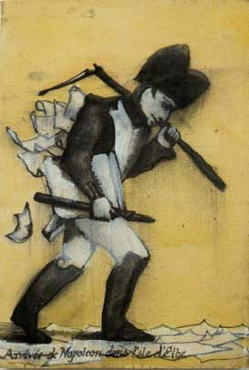 "Napoleonica, oil on canvas, approx. 16"" x 24"", circa 1989-1990, Robert Egert"