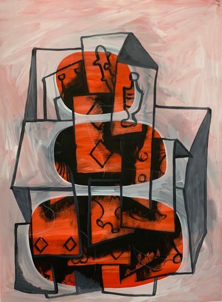 "Preparatory Academie, Oil on paper, approx. 24"" x 36"", 2019, Robert Egert"