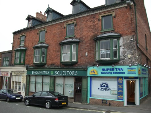 The site of Mary Ann Ling's china shop at 16 King Street, Alfreton (now Broadbent's Solicitors), 2011.
