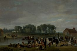 """Wilford Ferry, Nottingham (The Cherry-Eatings)"" by John Holland, 1858. Source: Nottingham City Museums and Galleries (via Culture Grid)."