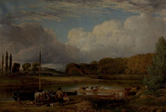 """View At Wilford, Nottingham"" by Benjamin Shipman, c. 1830. Source: Nottingham City Museums and Galleries (via Culture Grid)."