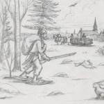 Chasseur de lièvres à Sainte-Geneviève