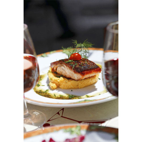 Outdoor Lunch, Salmon, Cafe, Paris, France