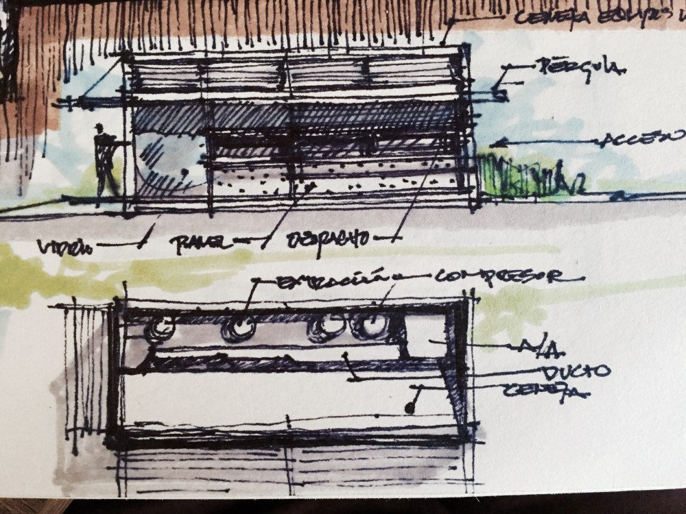 Container Food Truck Sketches