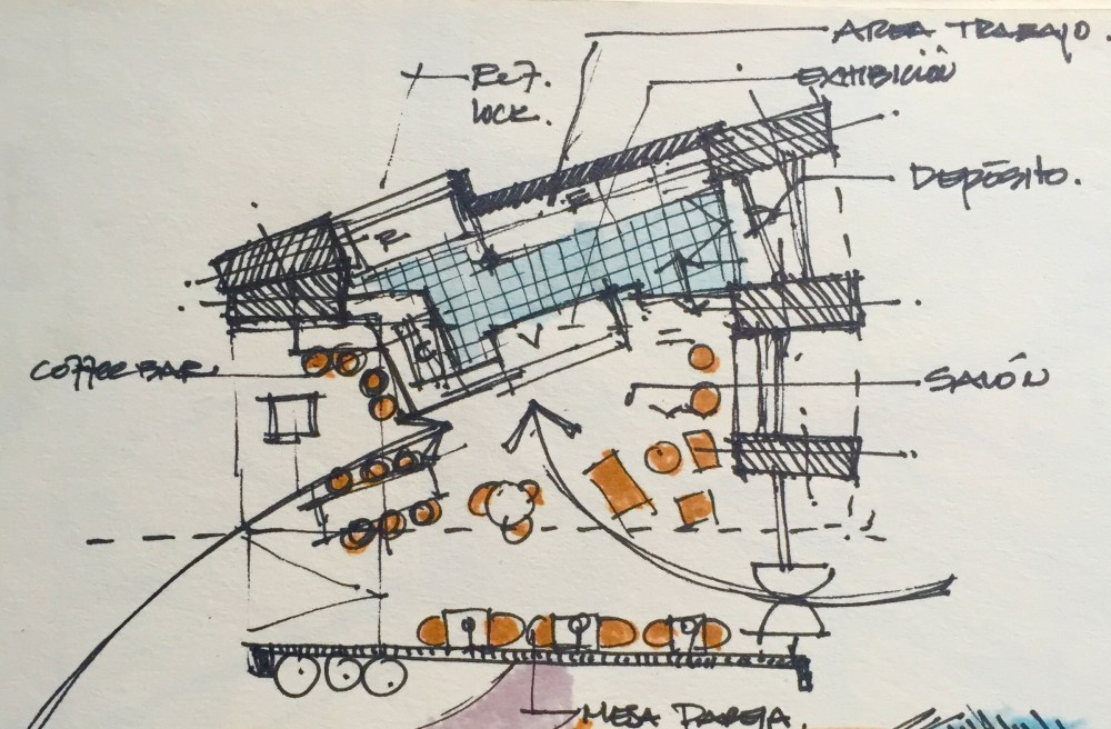 Bakery Shop Design - floor planSketches