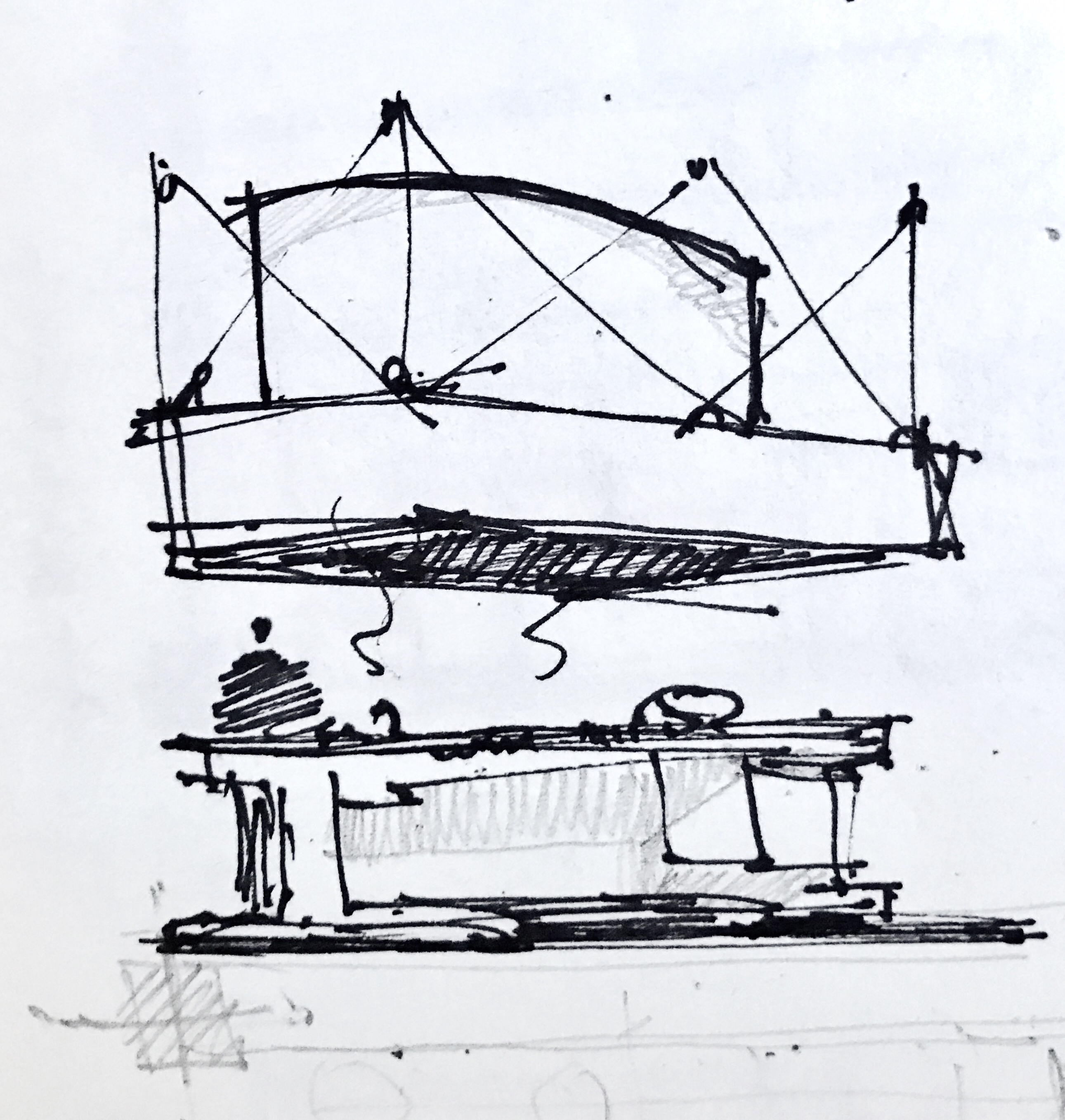 Chef Kitchen Island Sketch