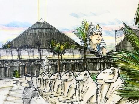 Luxor Train Sketch