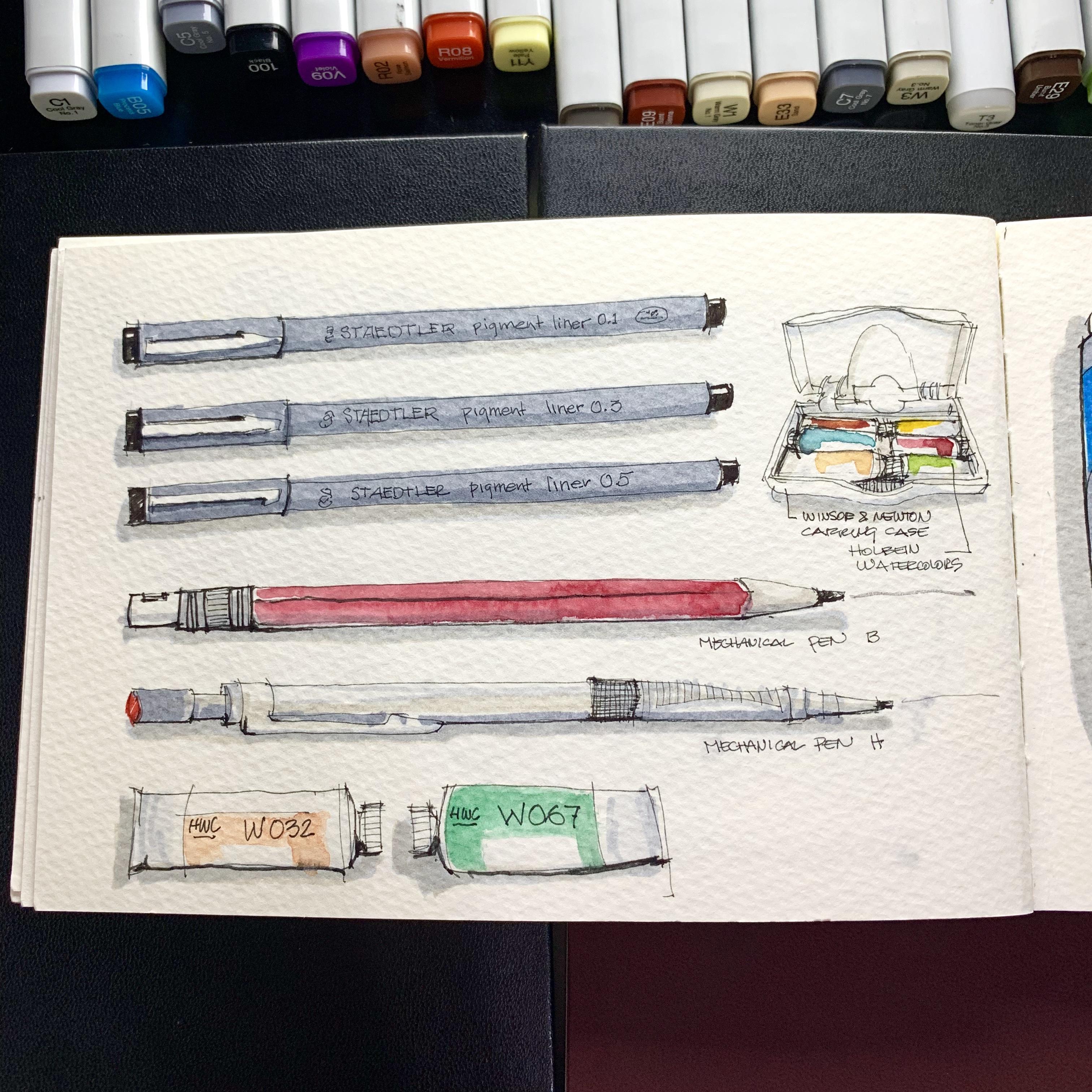 Preparing my Travel SketchBook