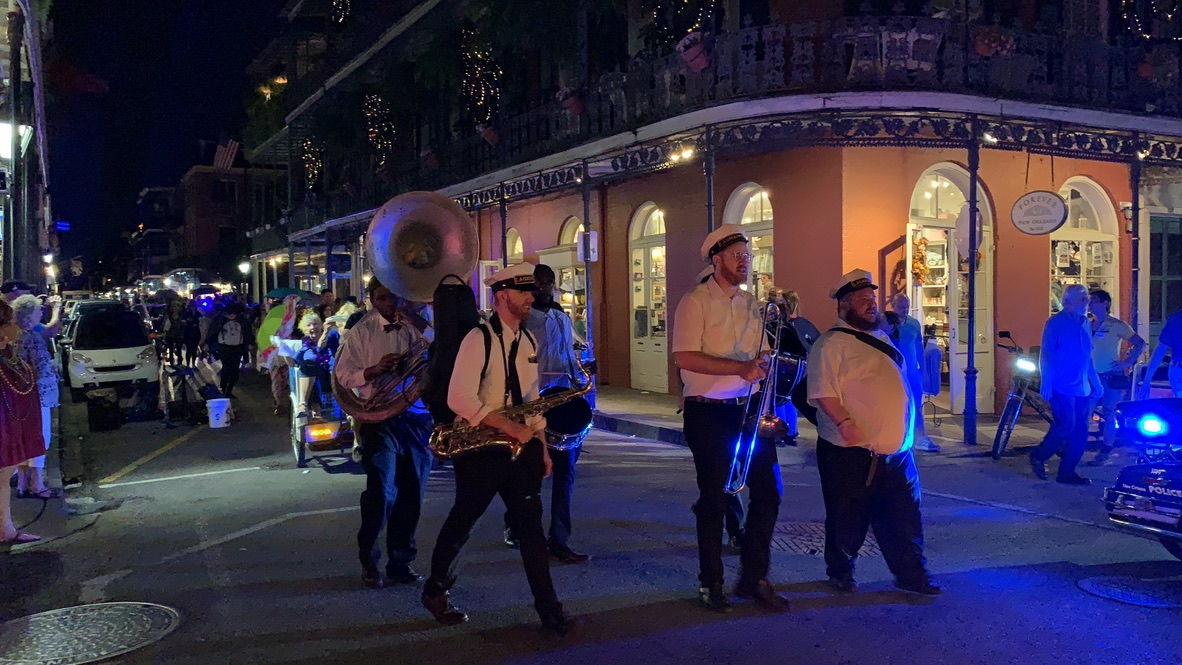 Visited the French Quarter Street band