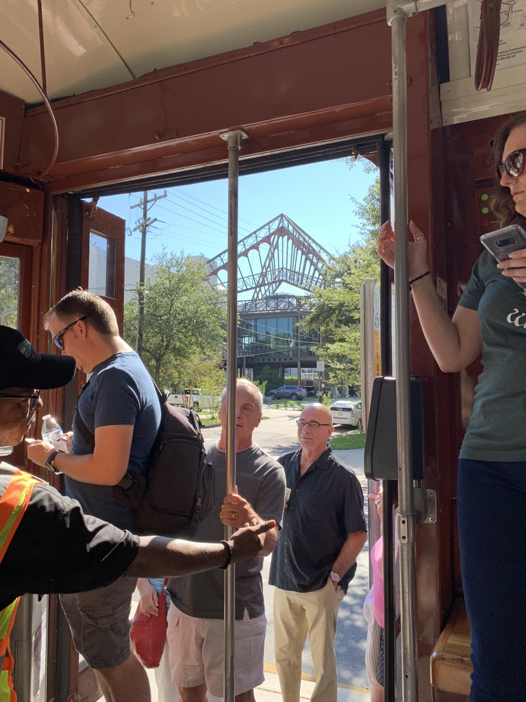 Riding on the Streetcar In New Orleans